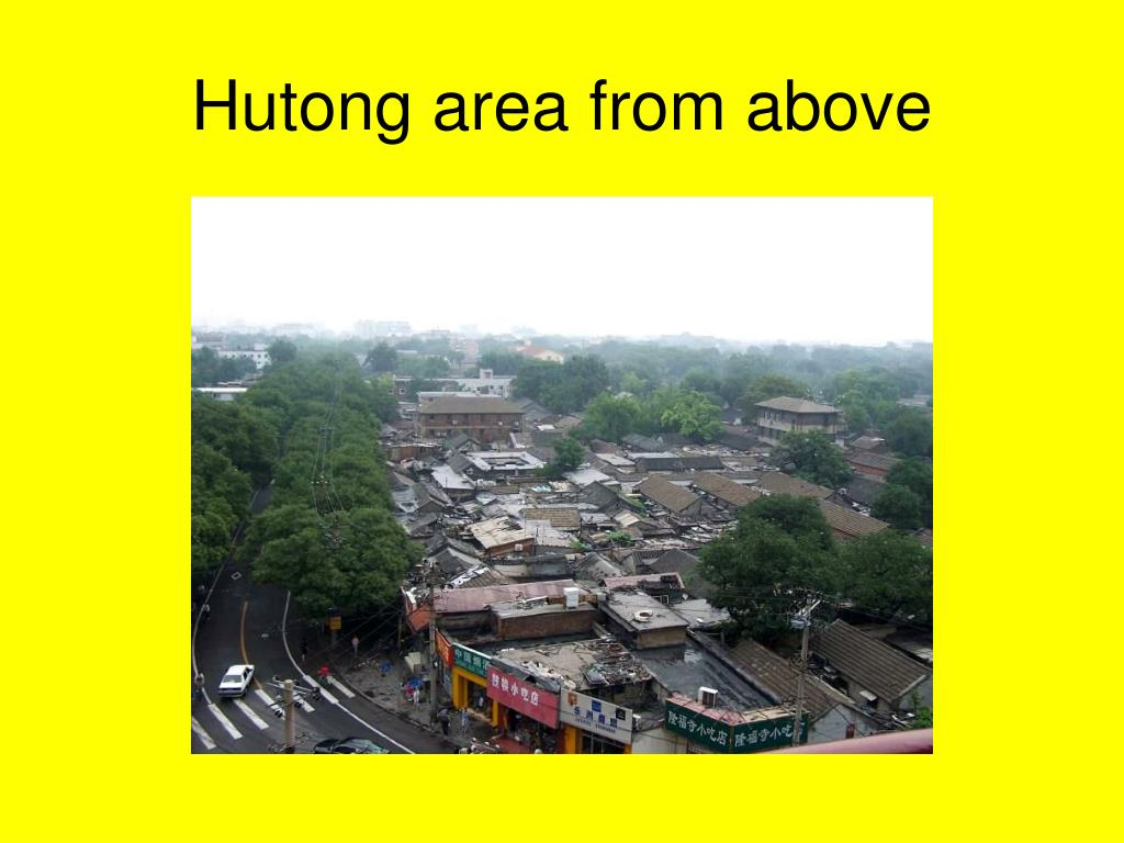 Hutong area from above