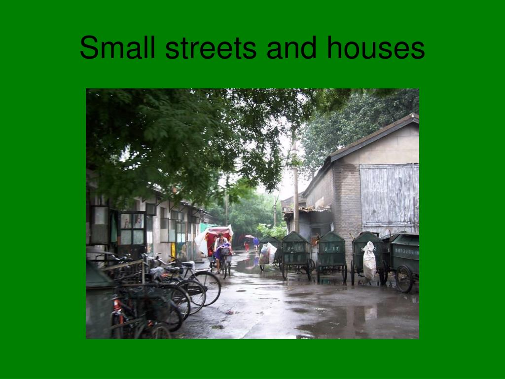 Small streets and houses
