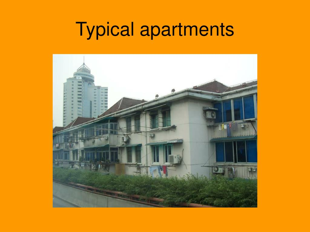 Typical apartments