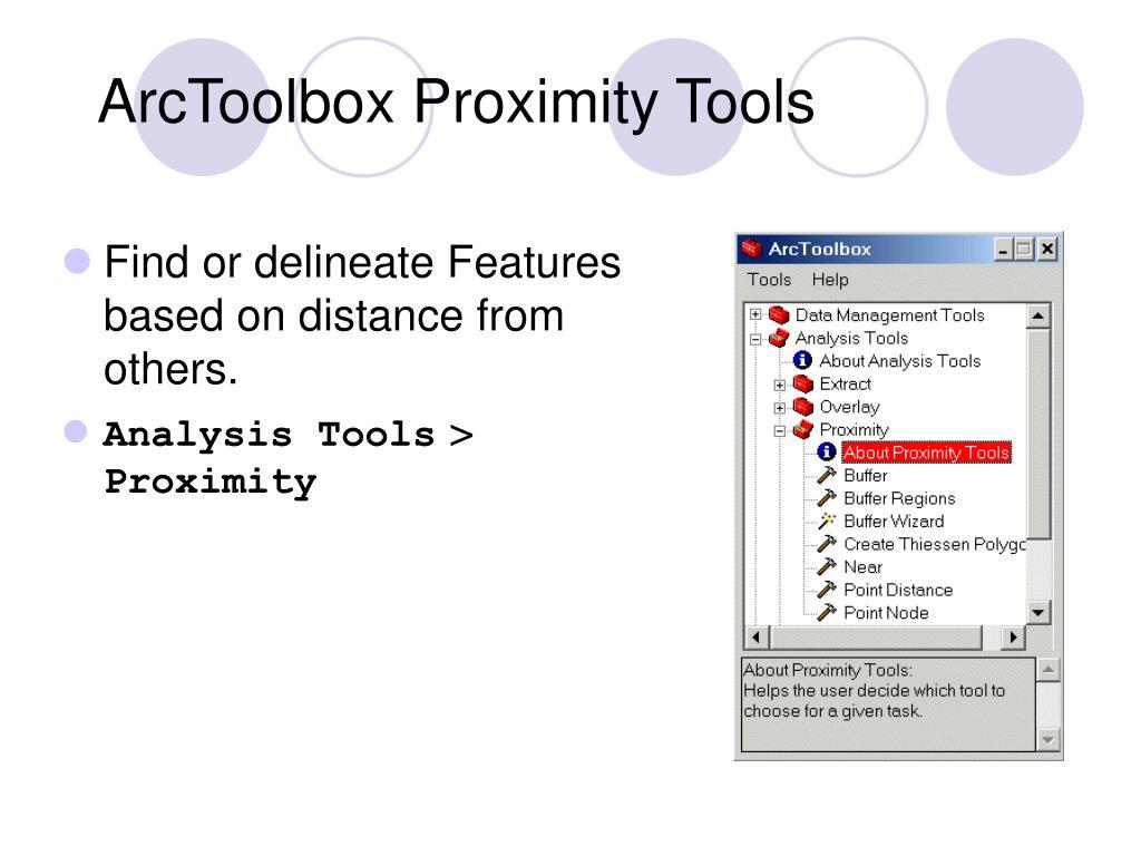 ArcToolbox Proximity Tools
