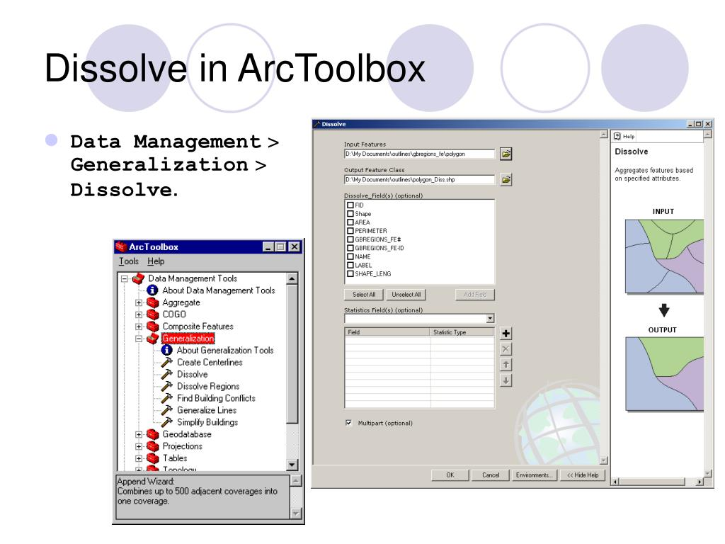 Dissolve in ArcToolbox