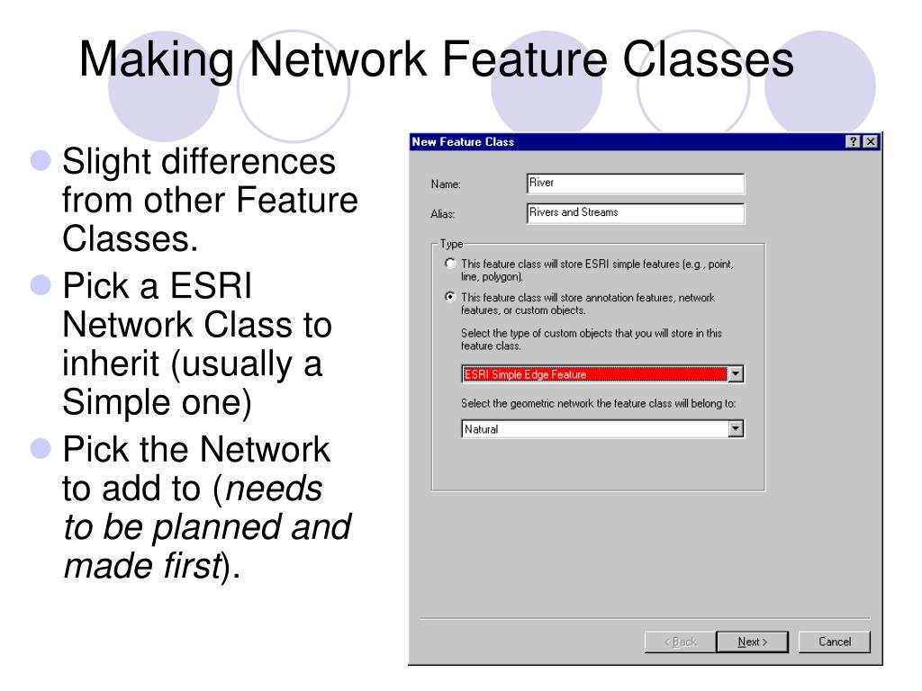 Making Network Feature Classes