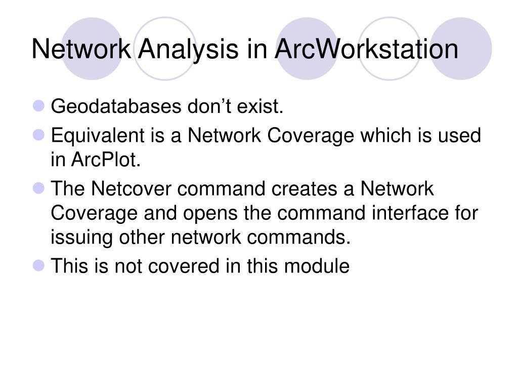 Network Analysis in ArcWorkstation
