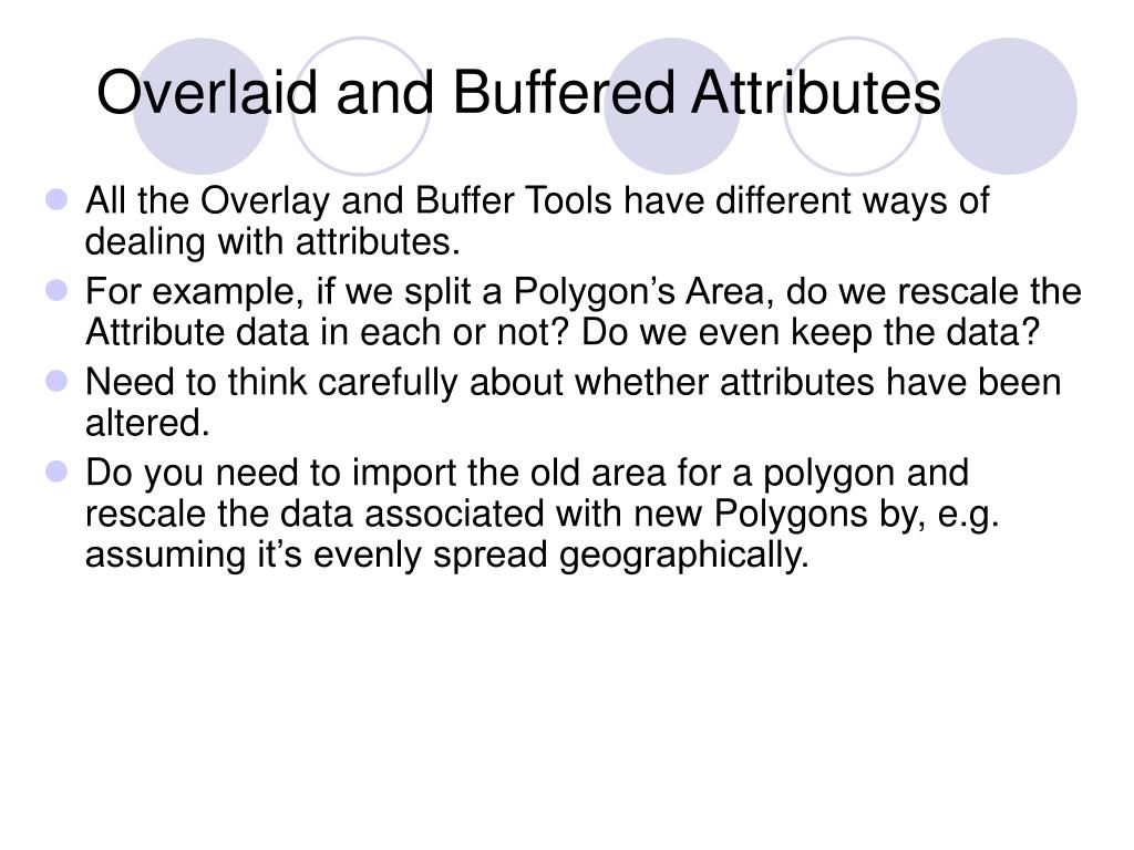 Overlaid and Buffered Attributes