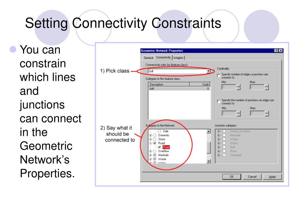 Setting Connectivity Constraints