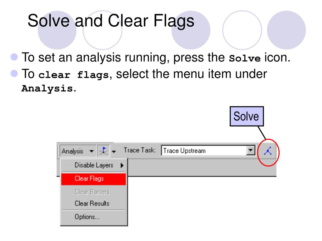 Solve and Clear Flags