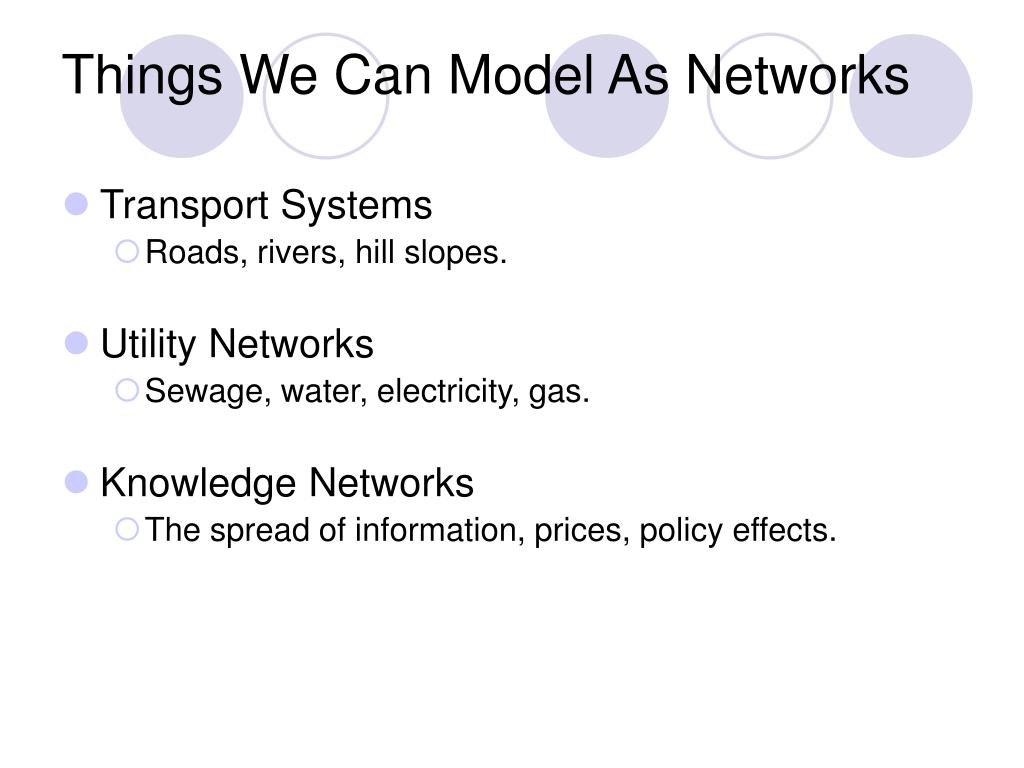 Things We Can Model As Networks