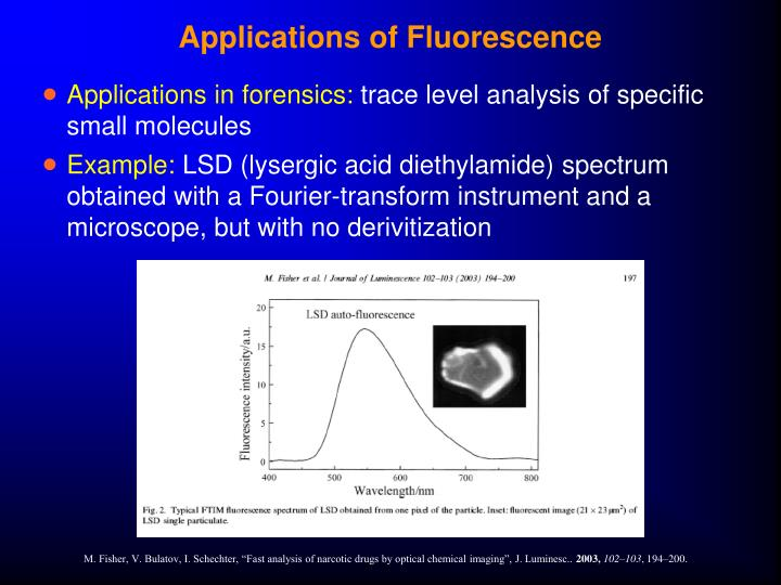 Applications of Fluorescence