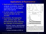 applications of fluorescence1