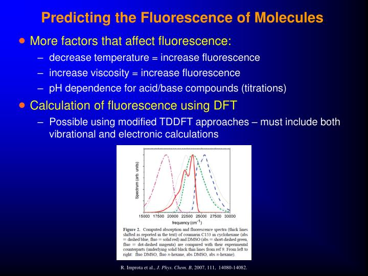 Predicting the Fluorescence of Molecules