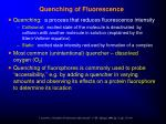 quenching of fluorescence