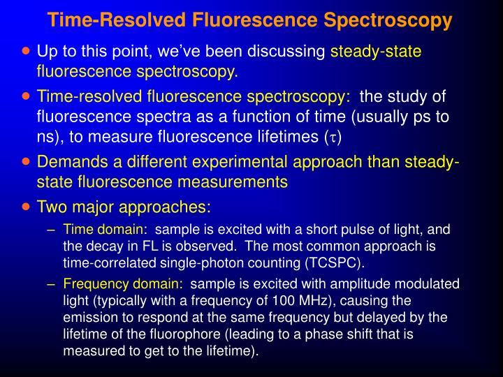 Time-Resolved Fluorescence Spectroscopy