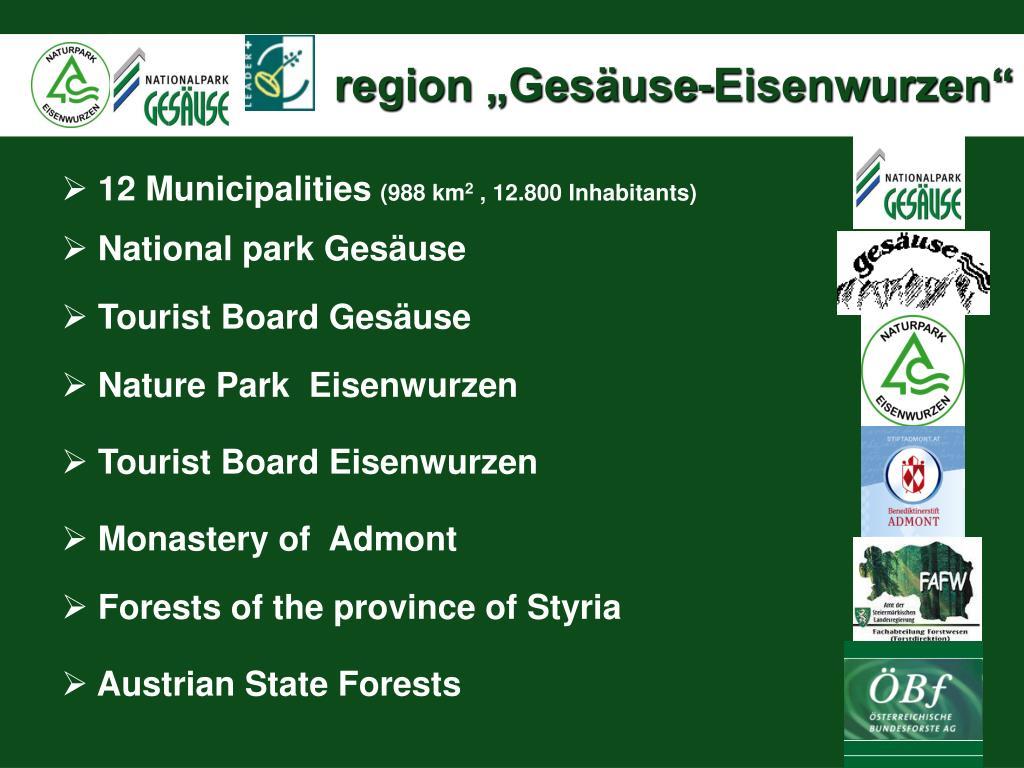 """region """"Gesäuse-Eisenwurzen"""""""