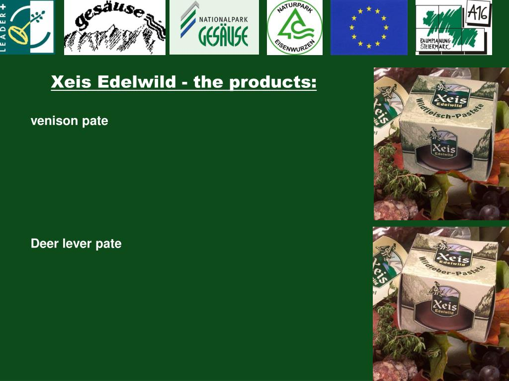 Xeis Edelwild - the products: