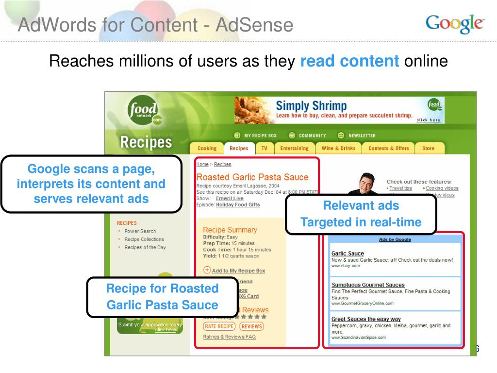 AdWords for Content - AdSense