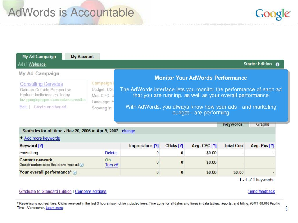 AdWords is Accountable
