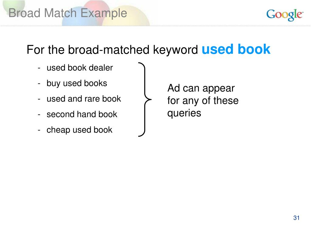 Broad Match Example