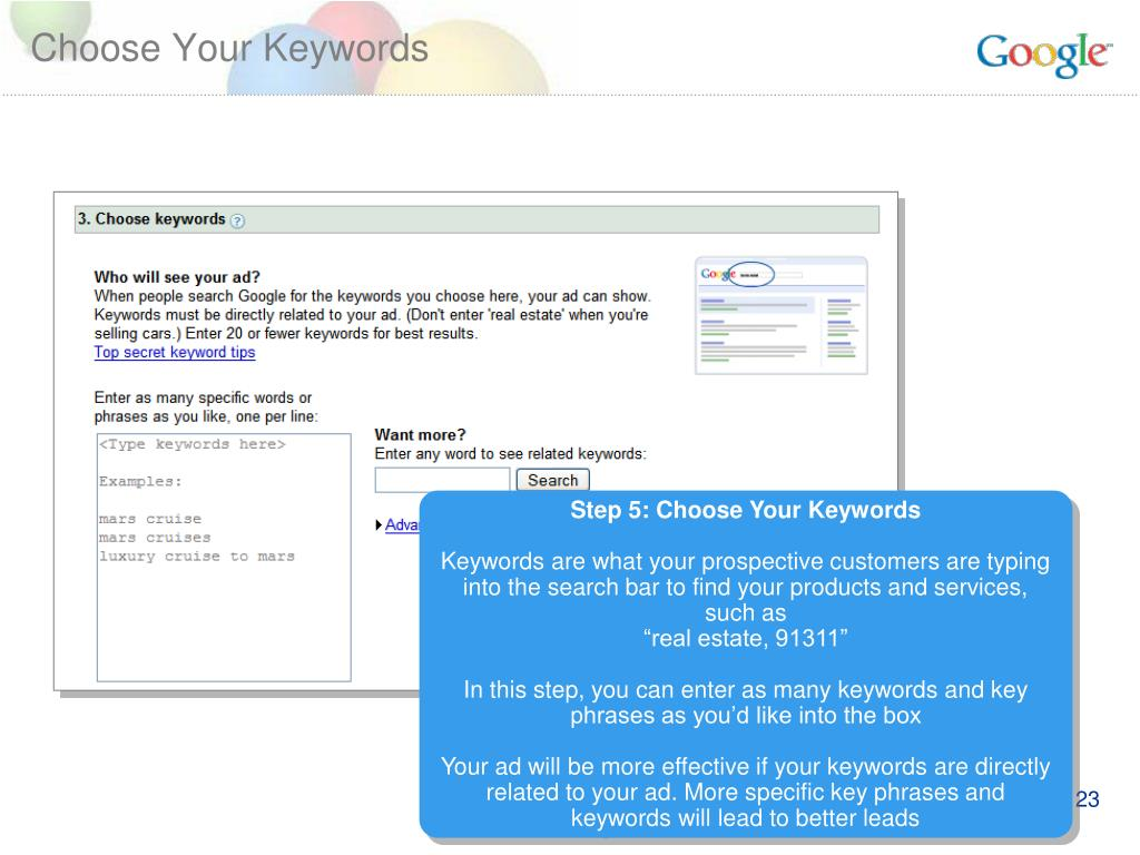 Choose Your Keywords