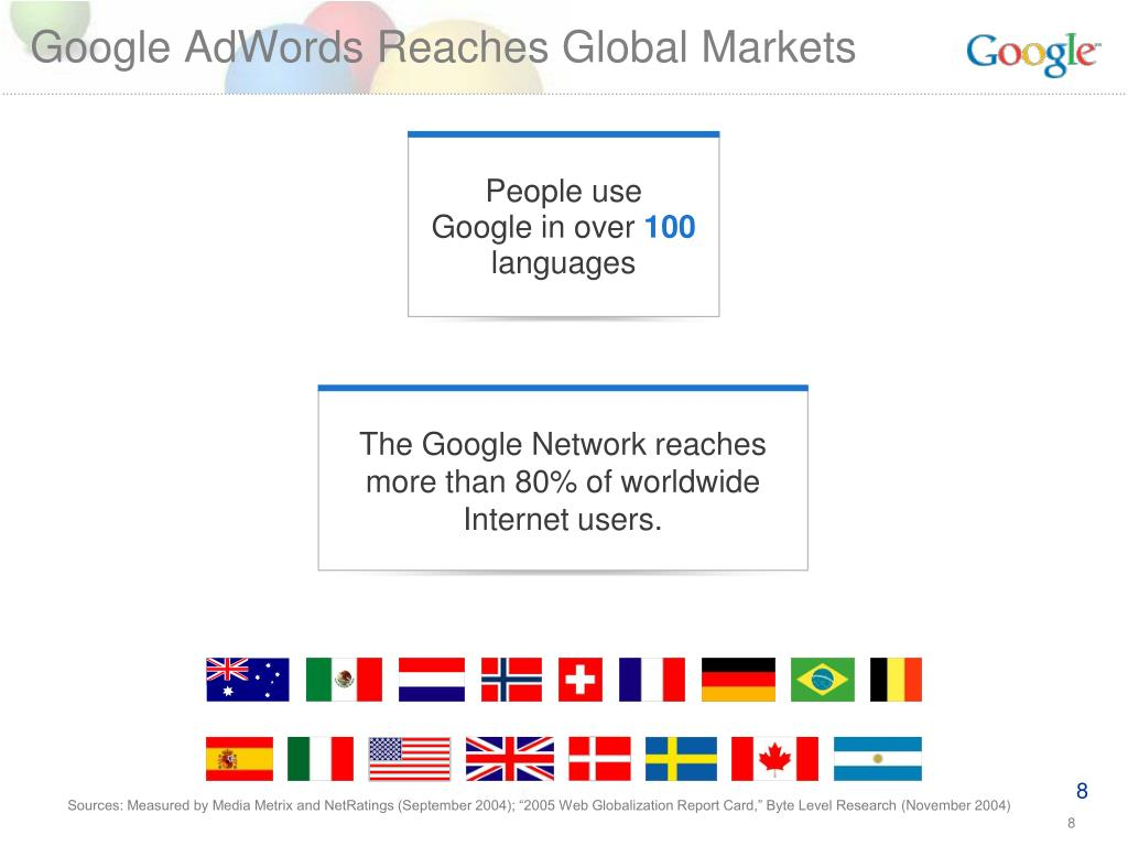 Google AdWords Reaches Global Markets