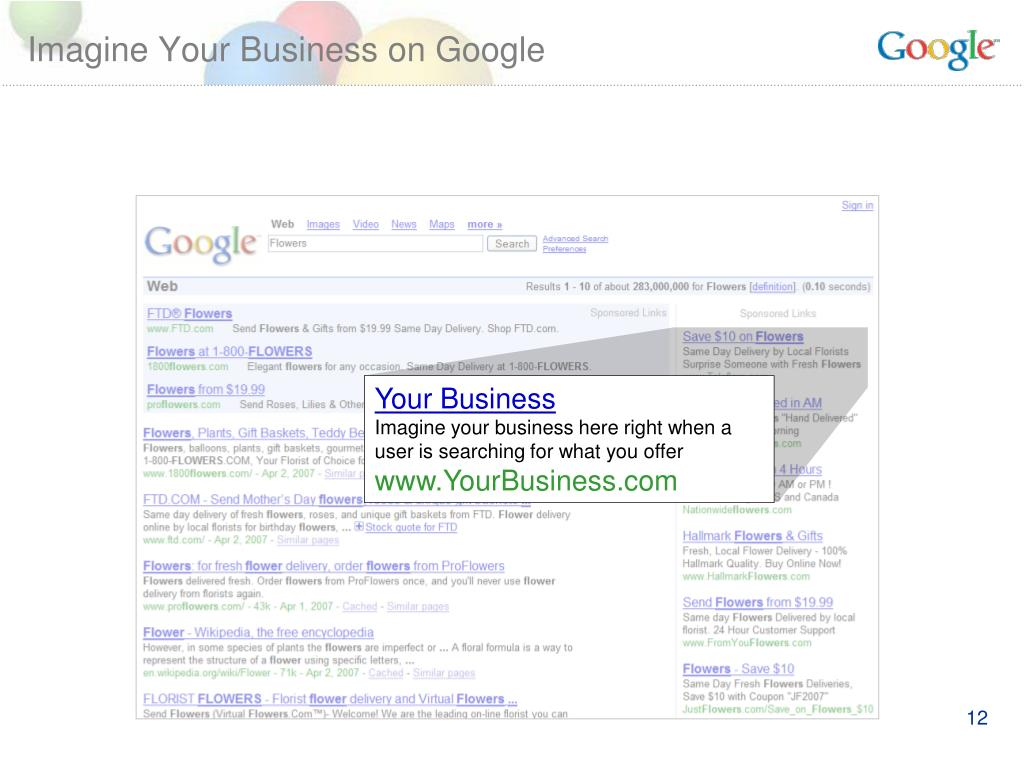 Imagine Your Business on Google