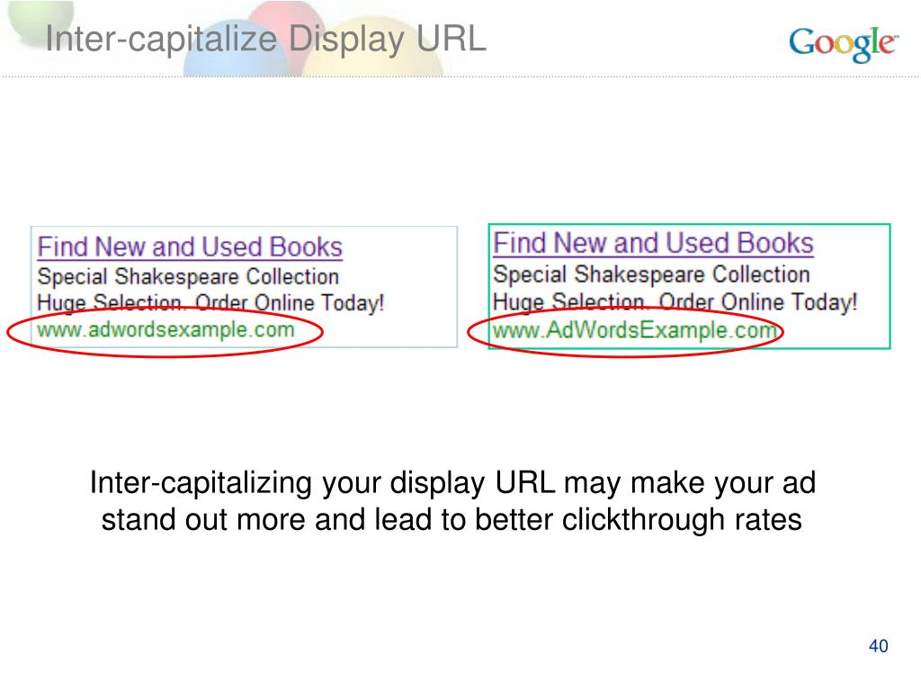 Inter-capitalize Display URL