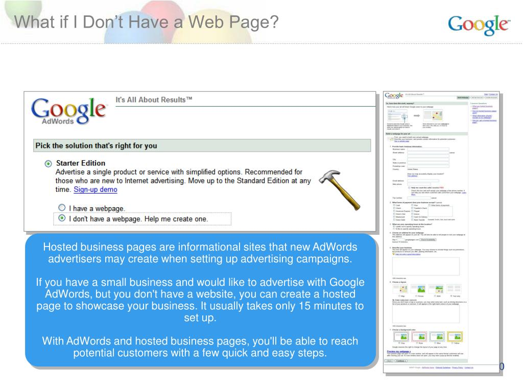 What if I Don't Have a Web Page?