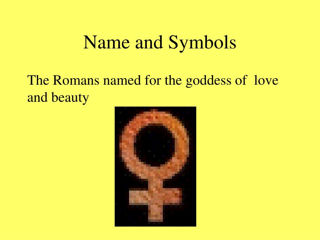 Name and Symbols