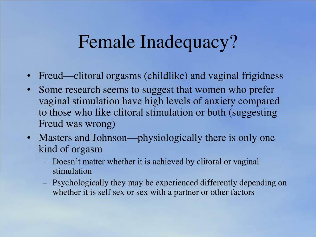 Female Inadequacy?