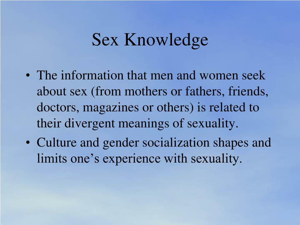 Sex Knowledge