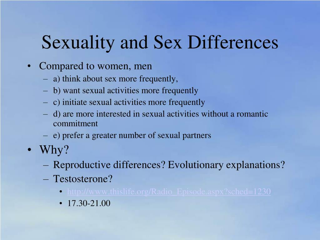 Sexuality and Sex Differences