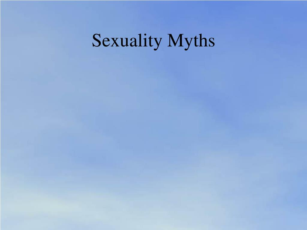 Sexuality Myths
