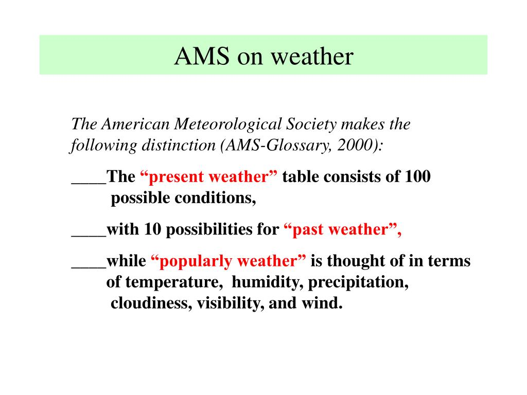 AMS on weather