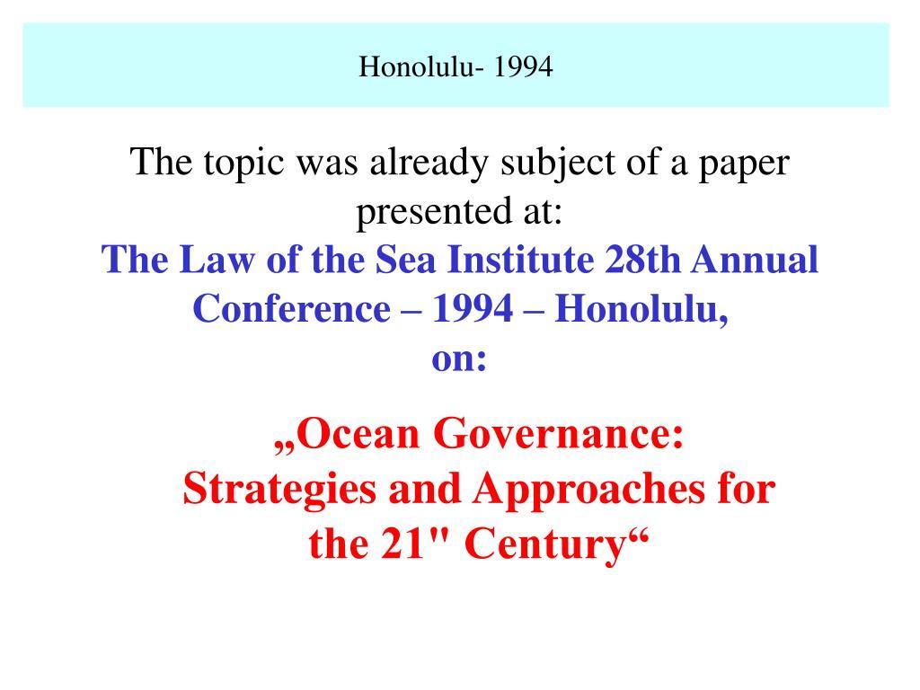 Honolulu- 1994