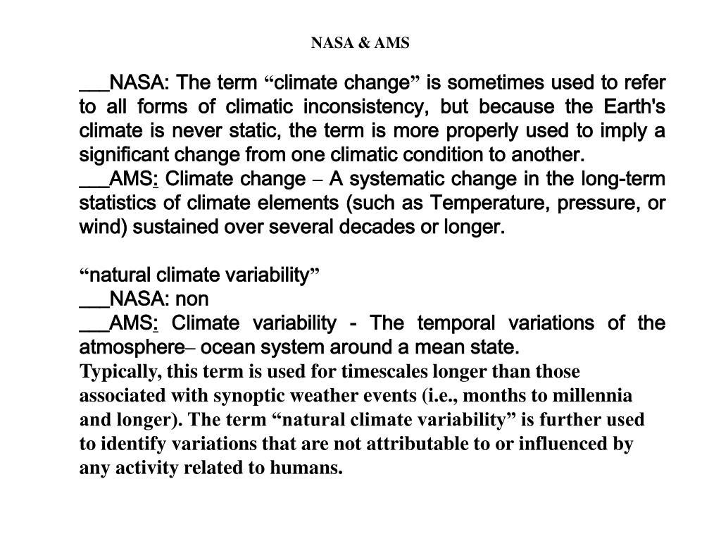 NASA & AMS