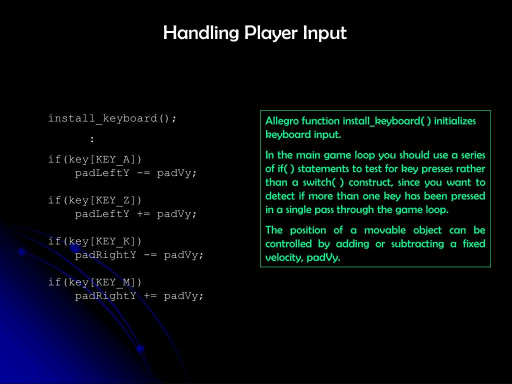 Handling Player Input