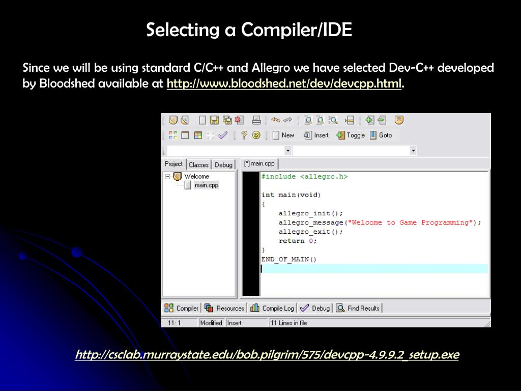 Selecting a Compiler/IDE