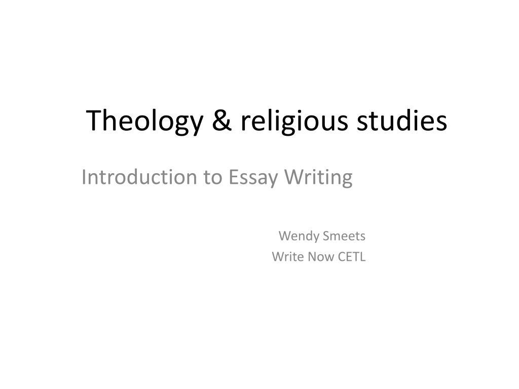 Theology & religious studies