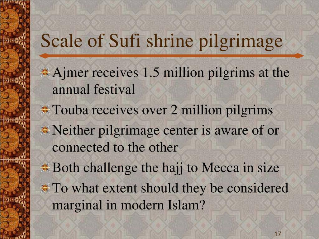 Scale of Sufi shrine pilgrimage
