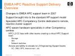 emea hpc reactive support delivery overview