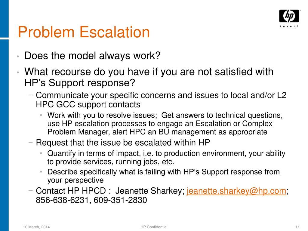 Problem Escalation