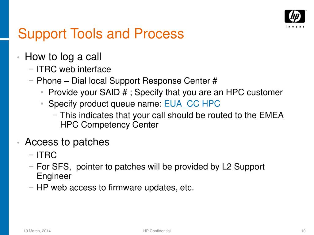 Support Tools and Process