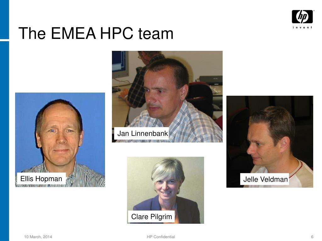 The EMEA HPC team