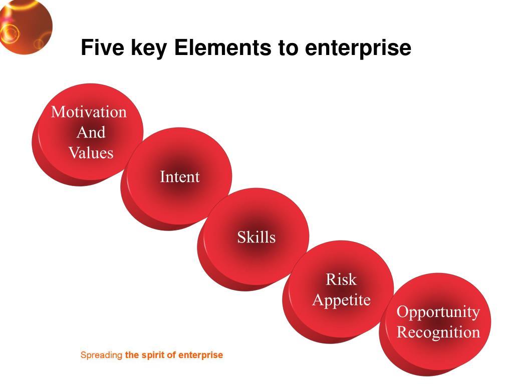Five key Elements to enterprise
