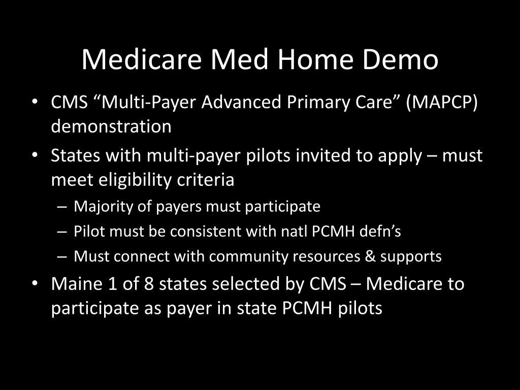 Medicare Med Home Demo