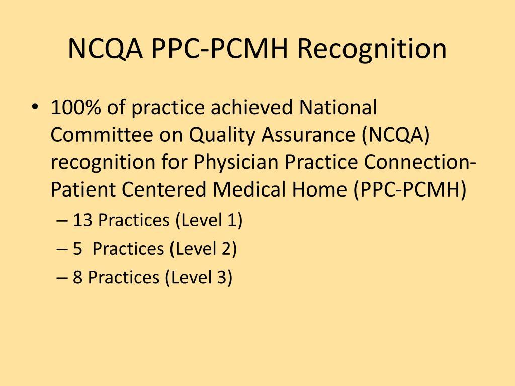 NCQA PPC-PCMH Recognition