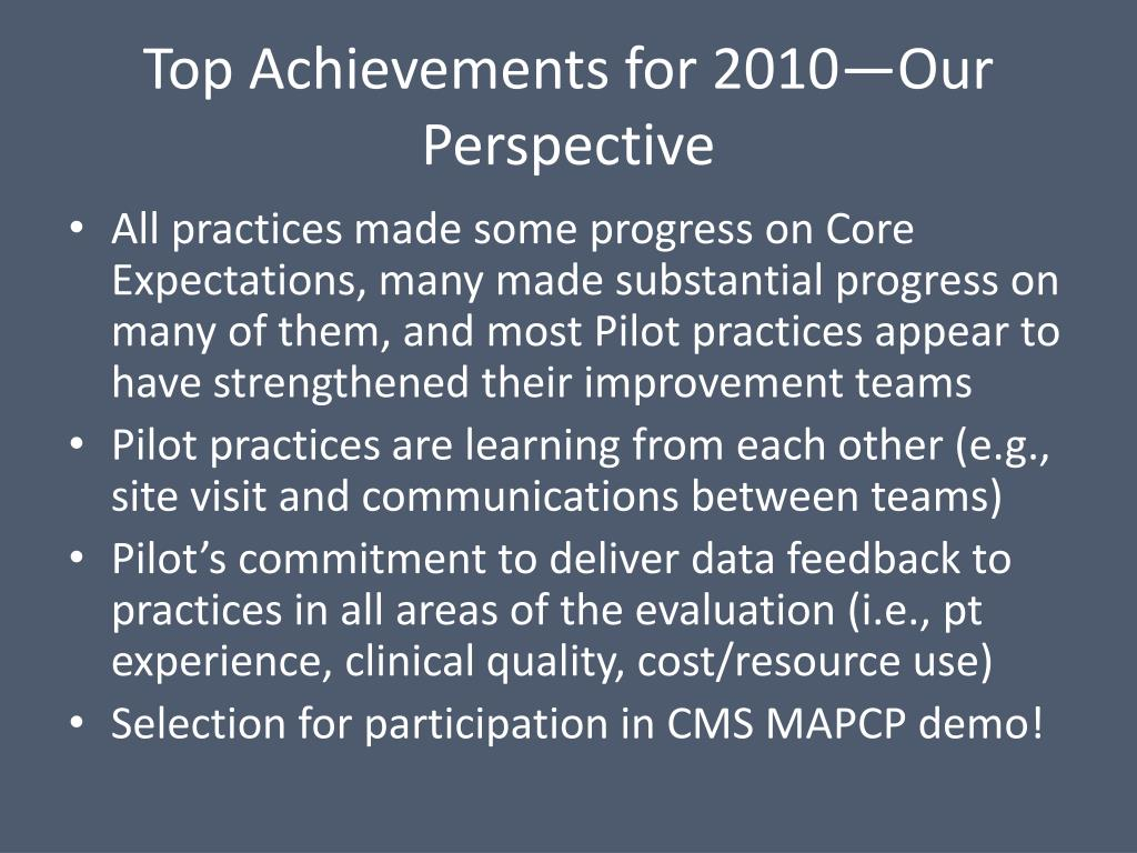 Top Achievements for 2010—Our Perspective