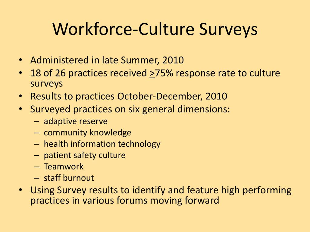 Workforce-Culture Surveys