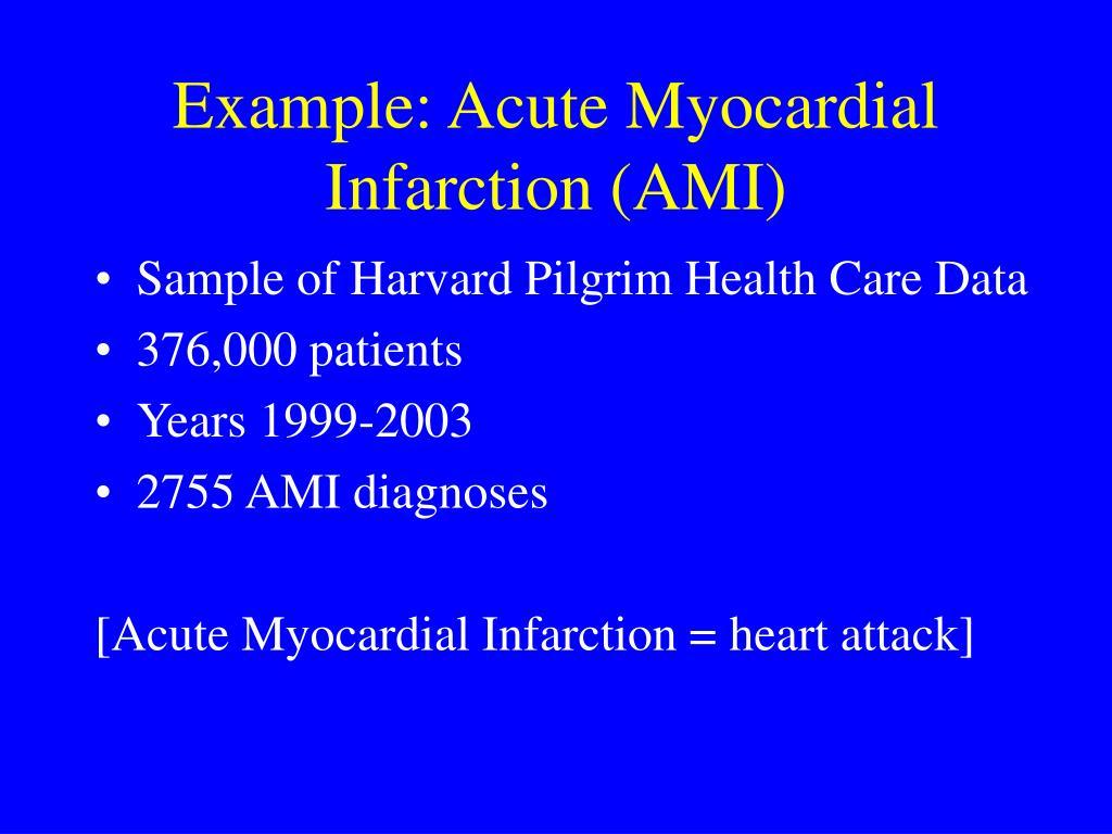 Example: Acute Myocardial Infarction (AMI)