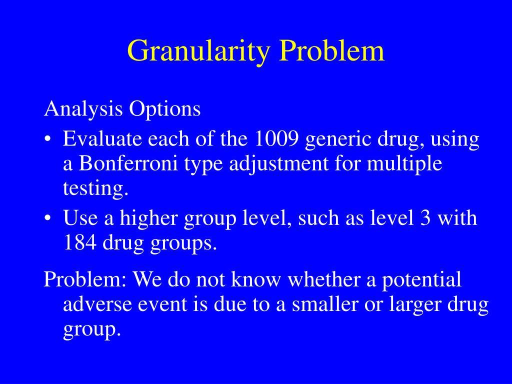 Granularity Problem
