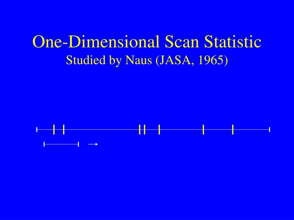One-Dimensional Scan Statistic